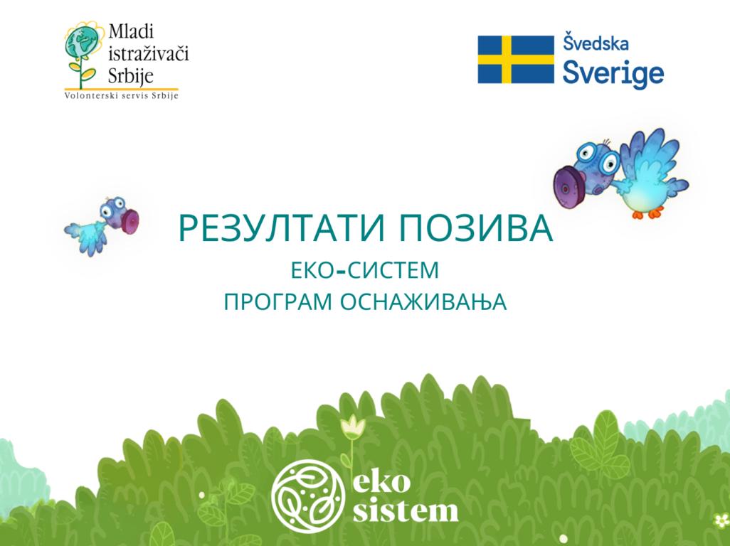 Резултати конкурса програма ЕКО-СИСТЕМ