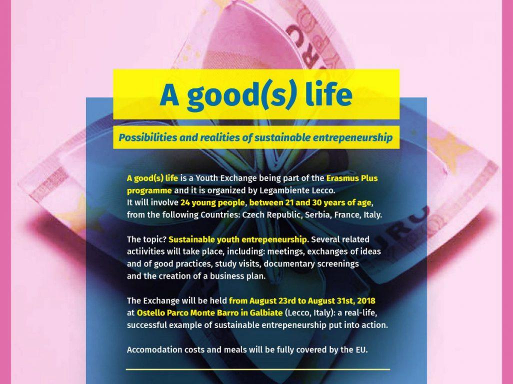 """Tražimo učesnike na međunarodnoj omladinskoj razmeni """"A good(s) life"""" u Italiji"""