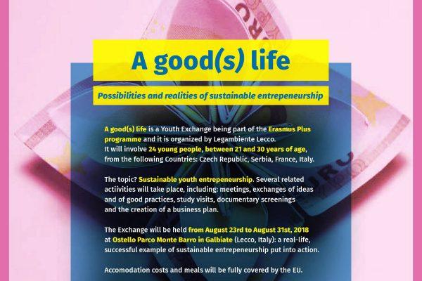 """Тражимо учеснике намеђународној омладинској размени """"A good(s) life """" у Италији"""