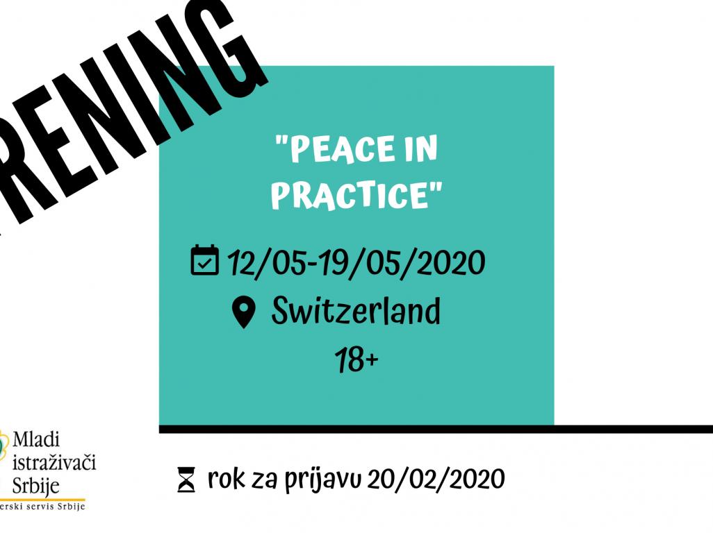 ПОЗИВ- међународни тренинг у Швајцарској