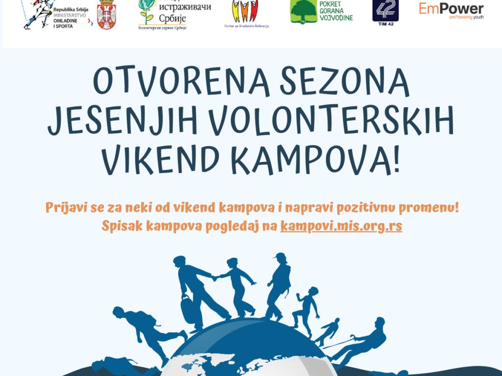 Otvorena je sezona jesenjih volonterskih vikend kampova