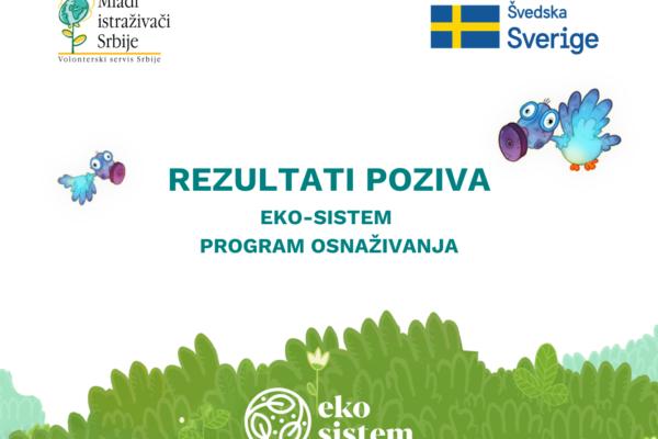 Rezultati konkursa programa EKO-SISTEM