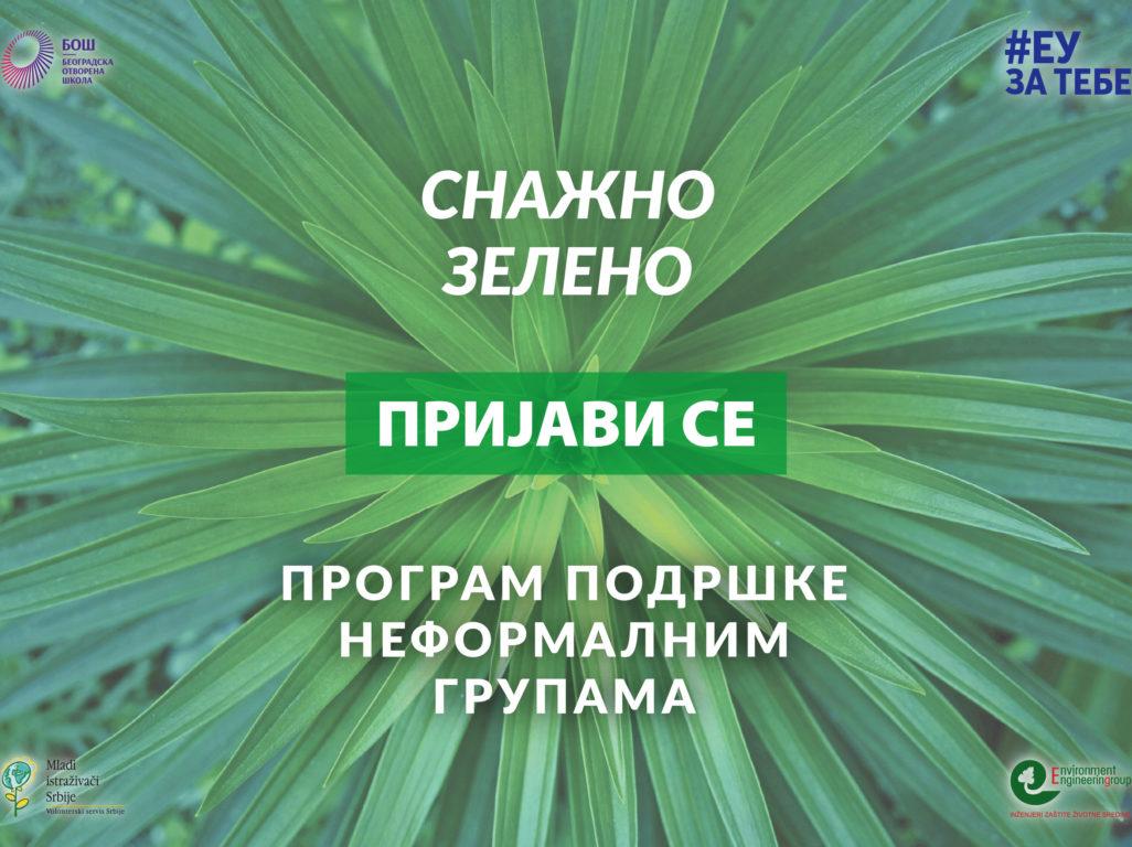 "Završen prvi krug Programa podrške neformalnim grupama ""Snažno zeleno"""