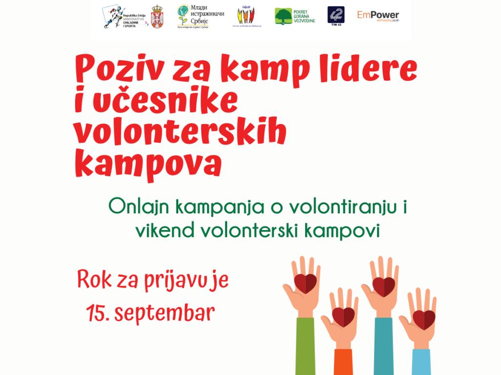 ПОЗИВ за учешће у кампањи о значају волонтирања и волонтерским викенд камповима