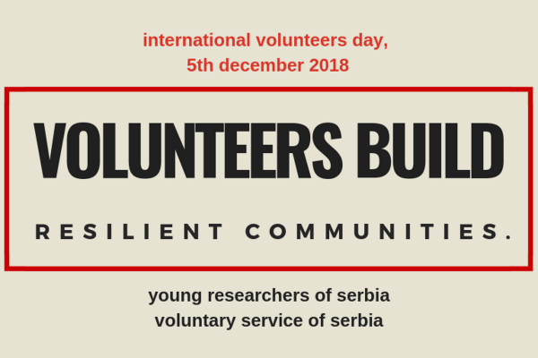 Statement on the occasion of International Volunteers Day, 5th of December 2018