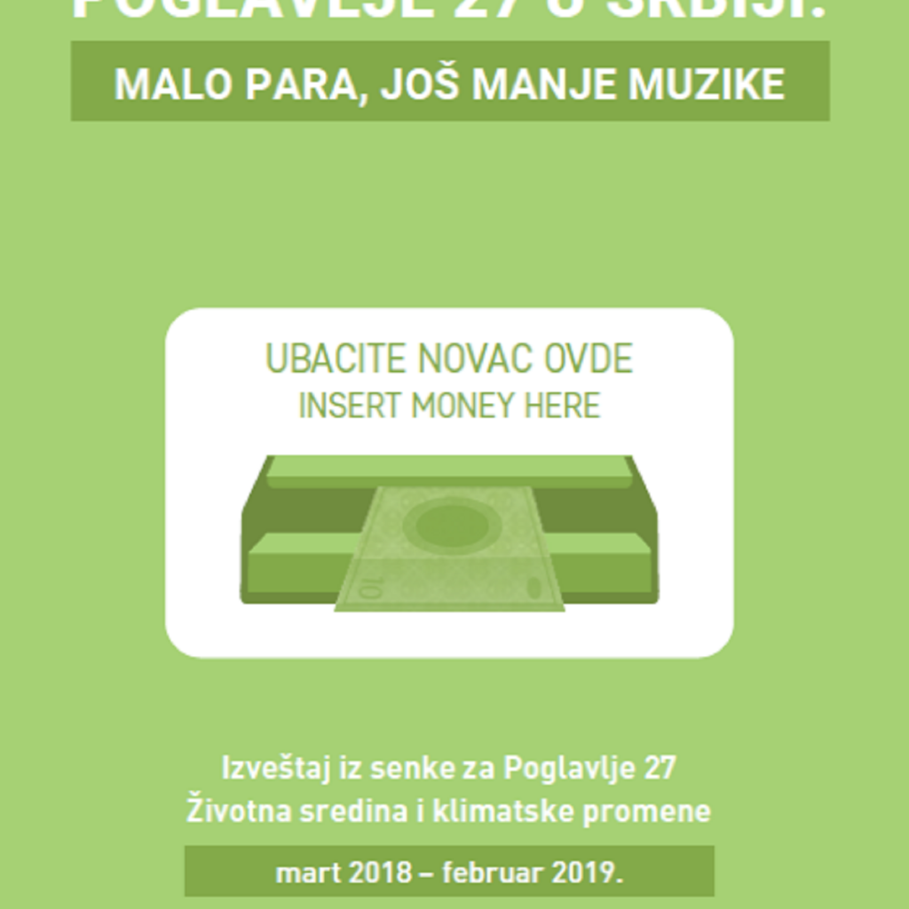 POGLAVLJE 27 U SRBIJI: malo para, još manje muzike